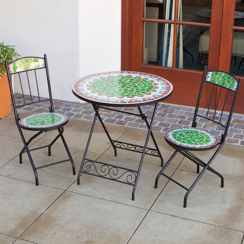 RST Outdoor Casablanca Decorative 3 Piece Bistro Set