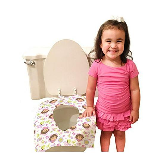 Fabulous Dora The Explorer Disposable Toilet Seat Covers 40 Count Evergreenethics Interior Chair Design Evergreenethicsorg