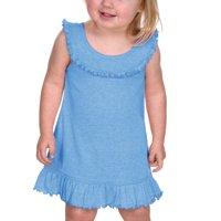 Kavio I1P0626 Infants Girls Ruffle Collar Tank Dress-Azure-18M