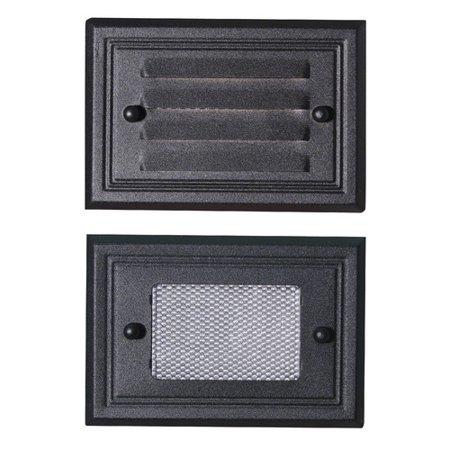 Paradise Garden Lighting Flush Mount Deck Light Two Face Plate in Black