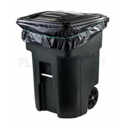 plasticplace 95 gallon trash bags 1 5 mil 61 wx68 h 50 case. Black Bedroom Furniture Sets. Home Design Ideas