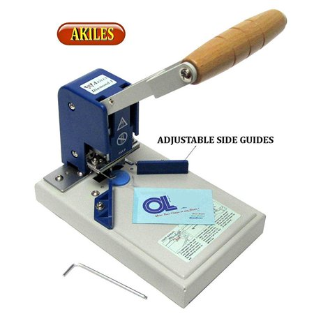 akiles diamond-1 corner rounder / corner cutting machine w/ 1/4 die from abc office