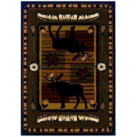Wilderness Accent - United Weavers Designer Contours John Q. Wilderness Stream Terracotta Accent Rug 1'10'' x 2'8''