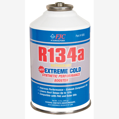 FJC 685 R134a and Extreme Cold Synthetic Performance Booster.  13 oz