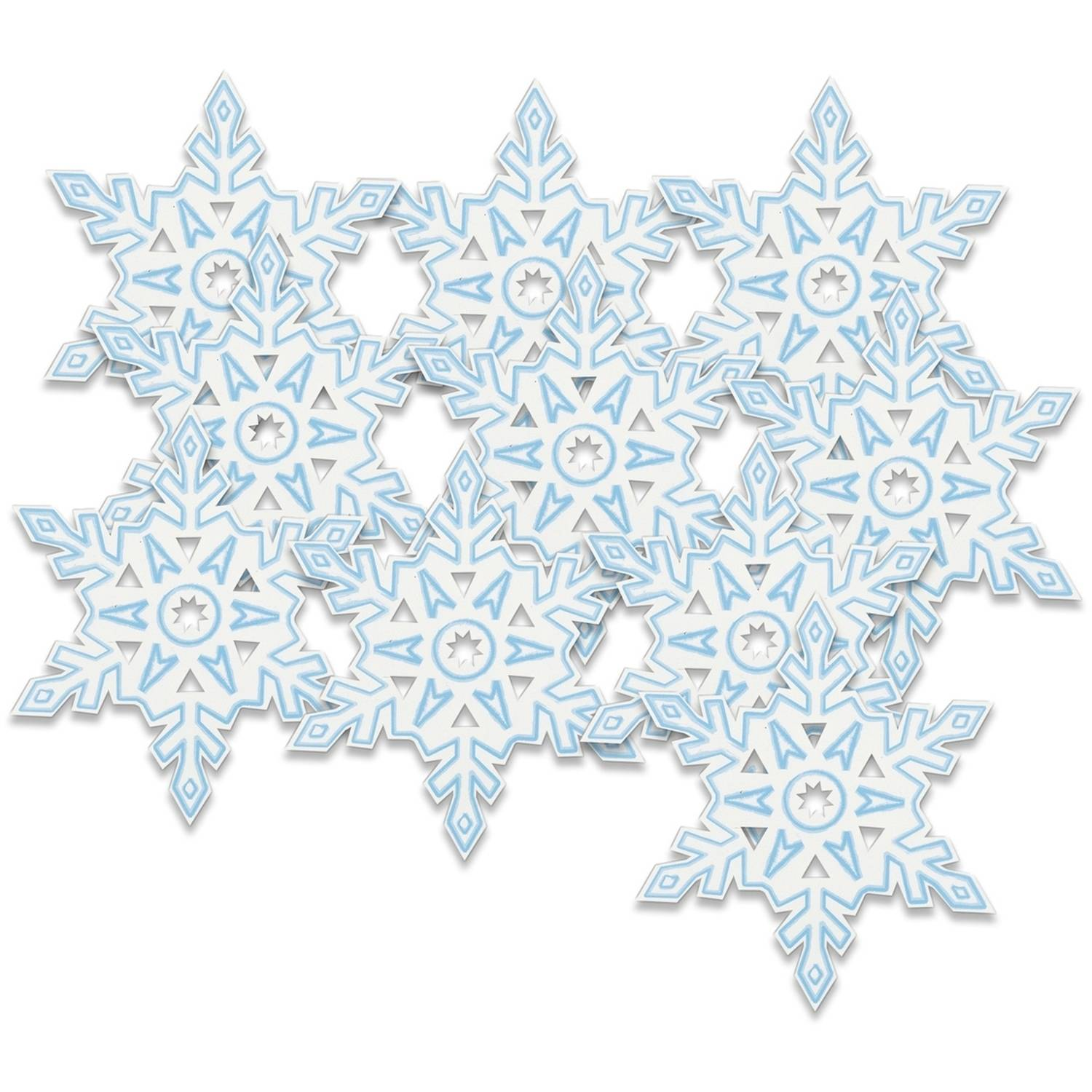 Paper Cutout Snowflake Holiday Decorations, 5 in, 10ct
