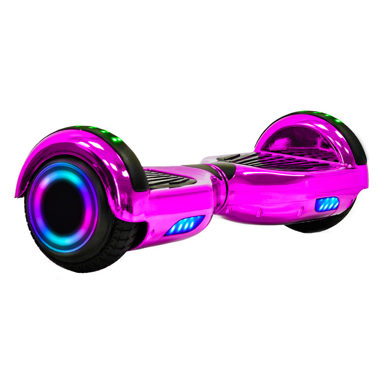"New 6.5"" Electric Chrome Self Balancing Scooter Hoverboard With Bluetooth Speaker, UL2272 Certified."