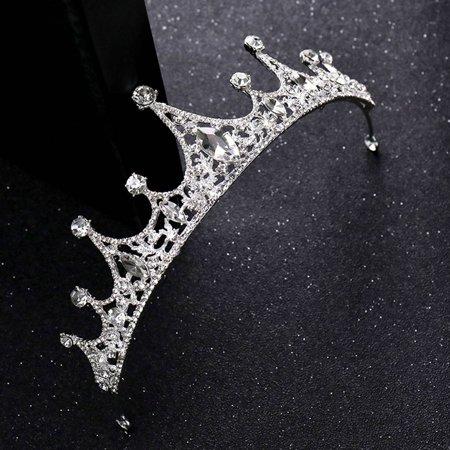 Ustyle Luxury Wedding Bridal Crystal Tiara Headwear Women Prom Rhinestone Tiara Headband Wedding Hair Accessories - image 7 de 9