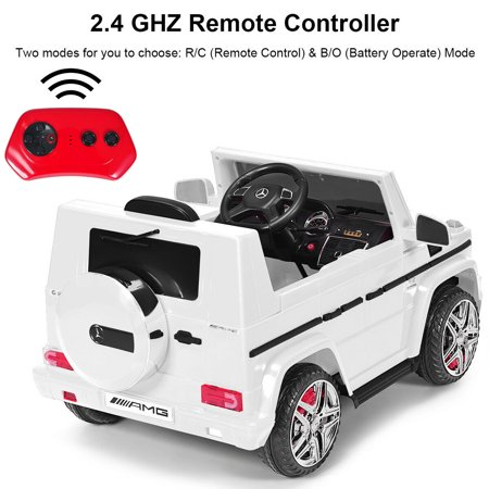Costway Mercedes Benz G65 Licensed 12V Electric Kids Ride On Car RC Remote Control White - image 6 of 10