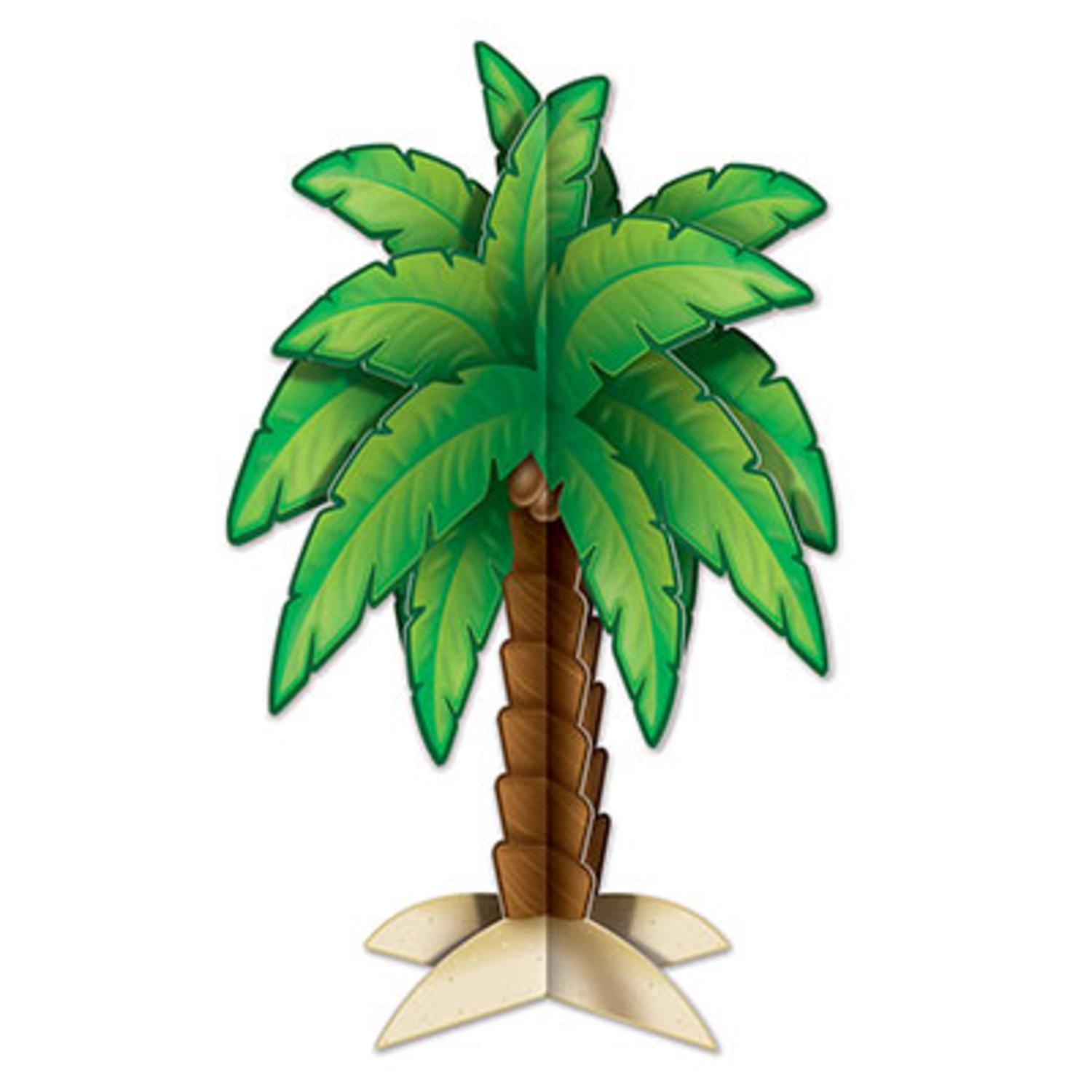 Club Pack of 12 Tropical 3-D Palm Tree Centerpiece Luau Party Decorations 11.75""