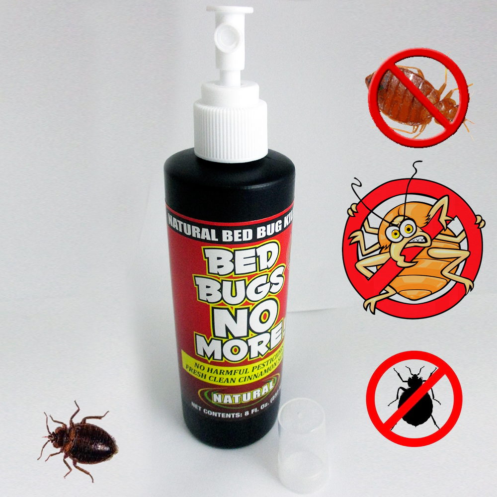 Bed Bugs No More Control Natural Killer 8oz Pump Spray Bedbug Insect Pillow New