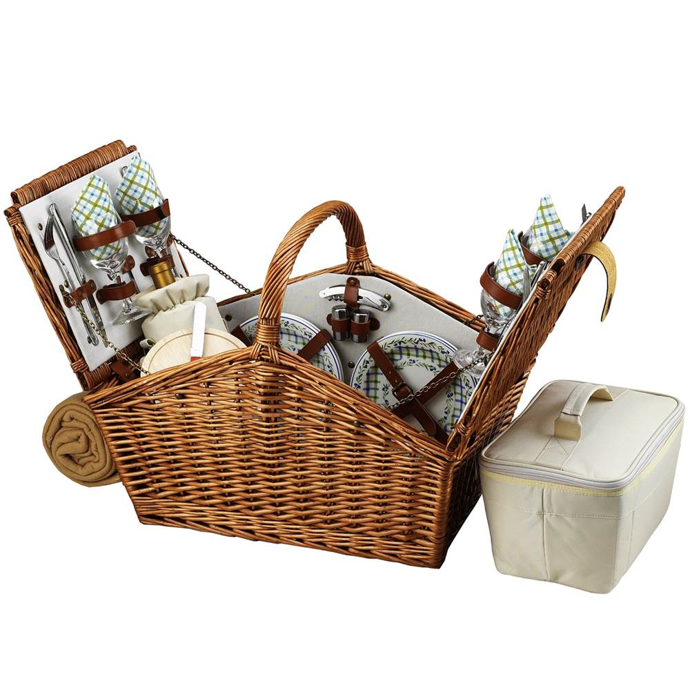 Huntsman Gazebo Picnic Basket for Four with Blanket