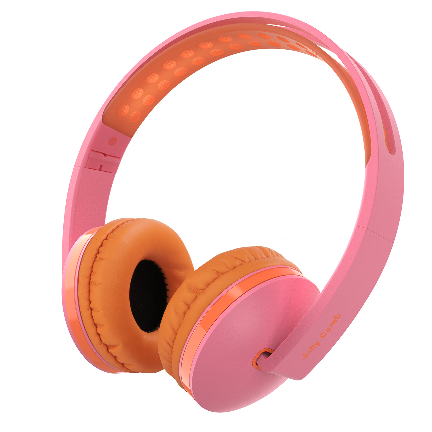 Headphones For Kids, Cute Cat Bunny Ear Headphones Volume Limited Wired On-Ear Kids Headphones Headsets for Girls, Children, Kids, 85dB Volume Limited,Pink