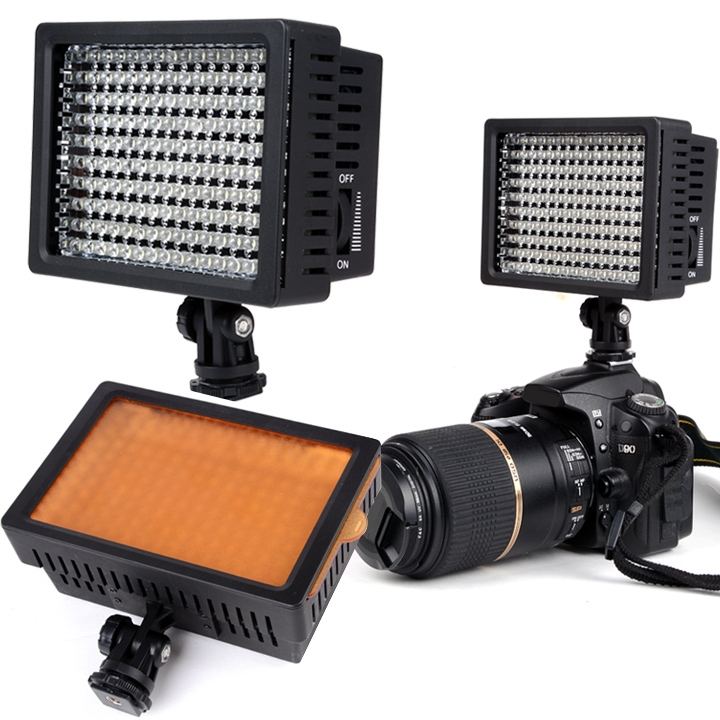 160 LED Digital Photo Video Light 9.6W Dimmable for Canon and Nikon Camera