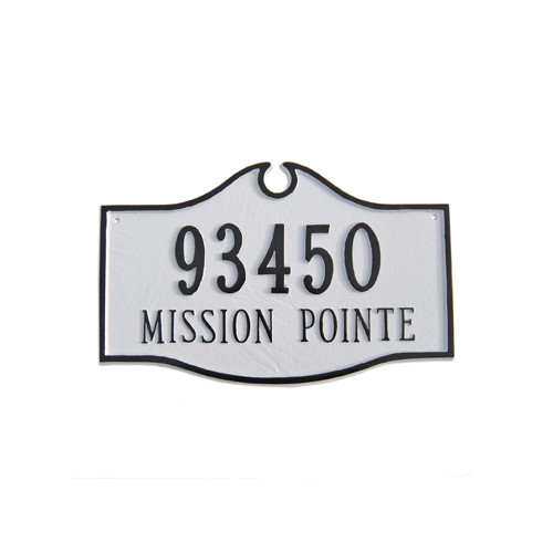 Montague Metal Products Inc. Estate Colonial Address Plaque