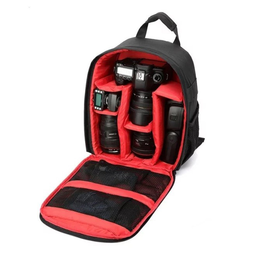Waterproof Shockproof Anti-theft Unisex Digital SLR DSLR Camera Bag Soft Padded Backpack Suitable For Canon For Nikon