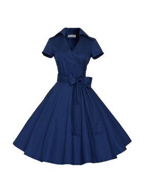 1d851847b7 Product Image Women Vintage Style 50 S 60 S Swing Pinup Retro casual  Housewife Christmas Party Ball Fashion Dress