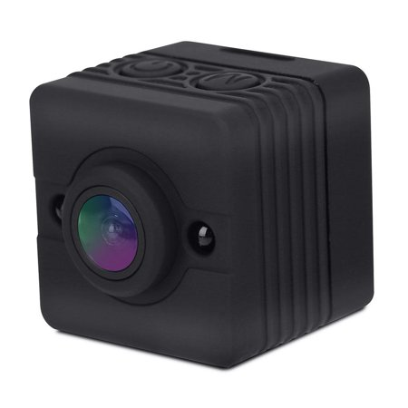 Lv. life 1080P HD Portable Mini Sports Camera Infrared Waterproof Cube Action Camera Camcorder with Mounts (Black)