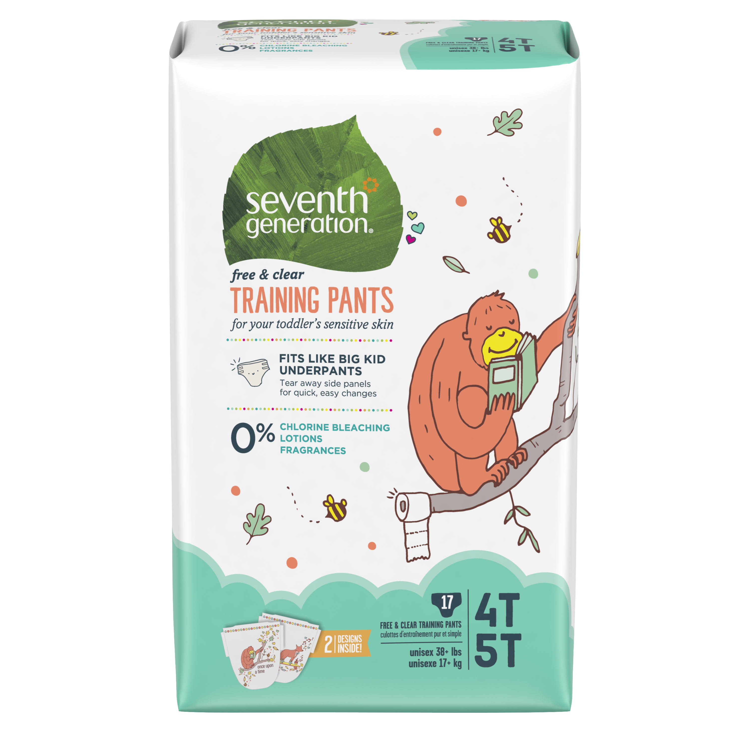 Seventh Generation Training Pants for Toddlers 4T-5T, 1 pack of 17 (17 ct)