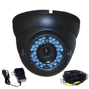 VideoSecu Vandal Proof 480TVL IR Day Night Vision Security Camera Built-in 1/3 inch CCD High Resolution 36 LED with Power Supply and Extension Cable beq
