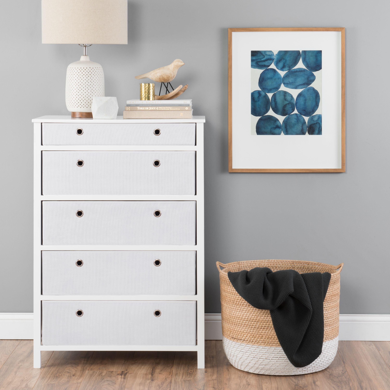 Foldable Furniture 5 Drawer Tall Dresser - Achim EZ Home Solutions