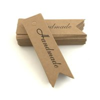 100Pcs Kraft Paper Gift Tags Thank You Tags for Wedding Party Baby Shower Favors Gifts DIY Cookies