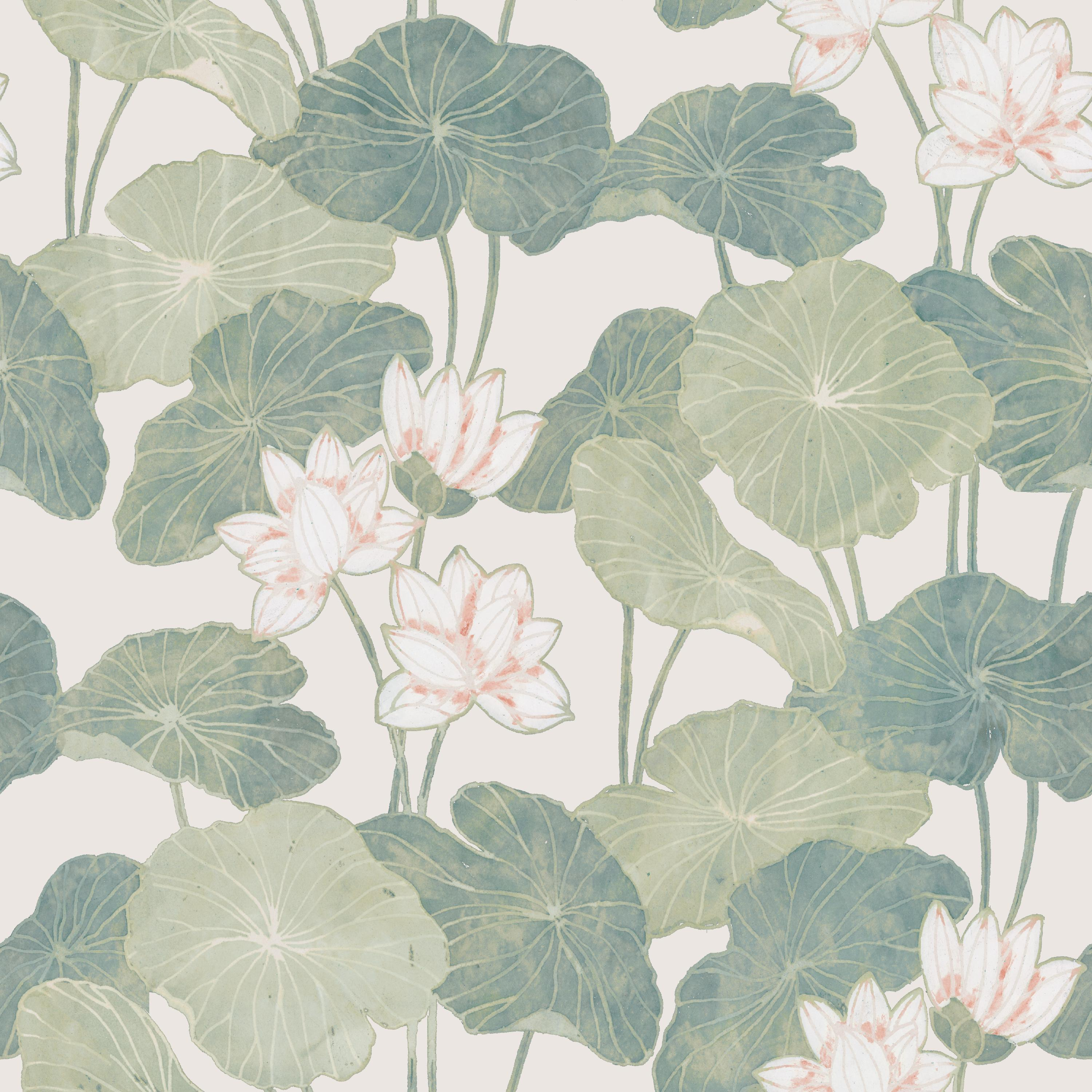 Neutral Lily Pads Peel and Stick Wallpaper