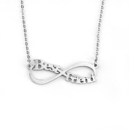 Best Friends Infinity Necklace Stainless Steel Silver