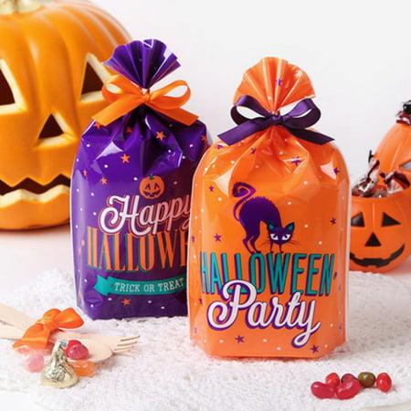 Post Halloween Cartoon (Halloween Plastic Candy Bag Cartoon Party Favors Bags Halloween Trick or Treat)