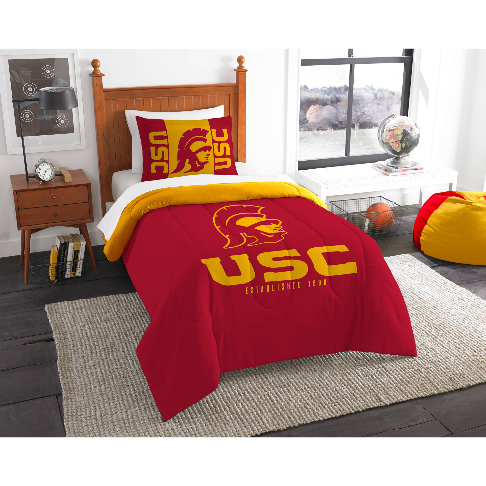 "NCAA USC Trojans ""Modern Take"" Bedding Comforter Set"