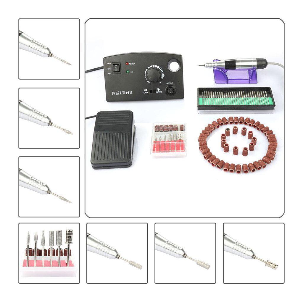 Besmall 20000 RPM Electric Drill Nail Set Kit Fast Machin...