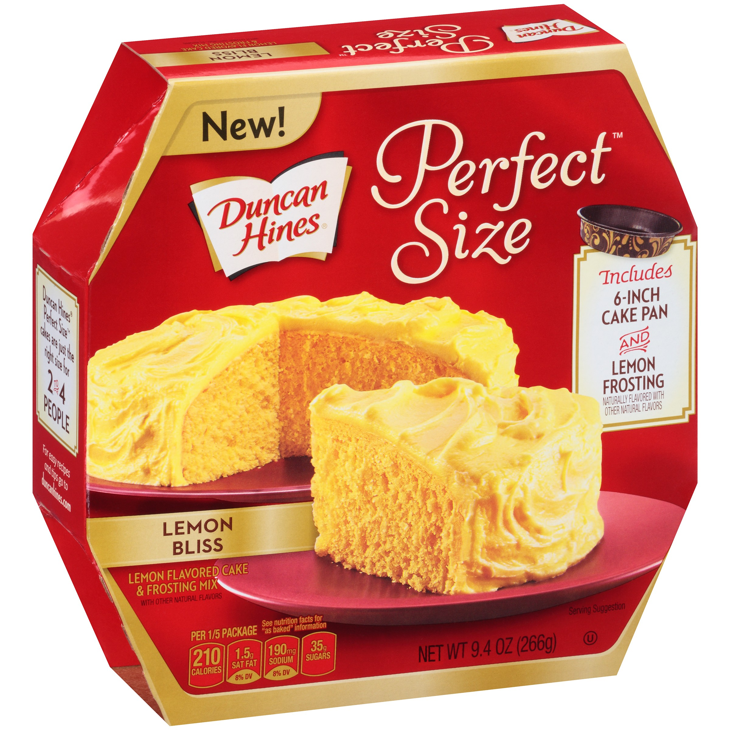 Duncan Hines Perfect Size Lemon Cake & Frosting Mix Lemon Bliss, 9.4 OZ by Pinnacle Foods Group LLC