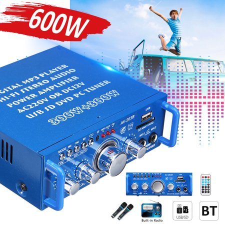 600W Home Mini HIFI Audio Power Amplifier ,FM Stereo Radio Suitable Foe Home Or Your Car