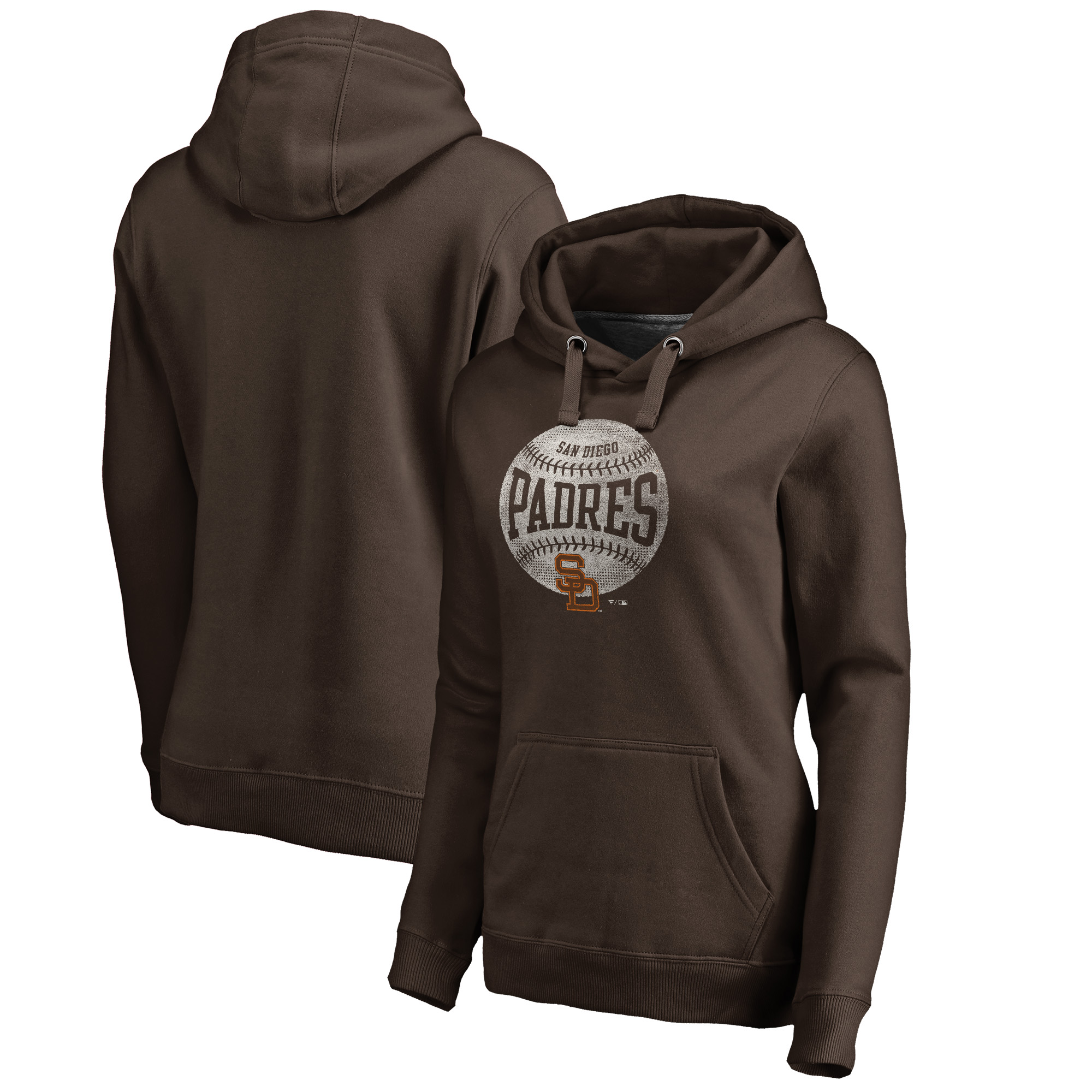 San Diego Padres Fanatics Branded Women's Cooperstown Collection Slider Pullover Hoodie - Brown