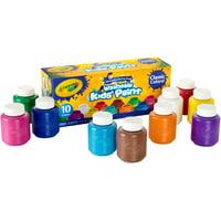Crayola Washable Kids Paint, 2 oz Bottles, 10 Count