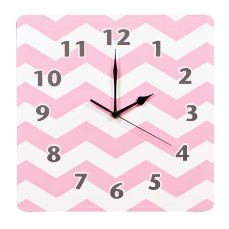 Pink Sky Chevron Wall Clock - image 1 de 1