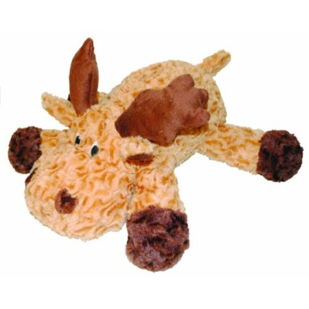 patchwork pet swirl moose 15-inch squeak toy for dogs