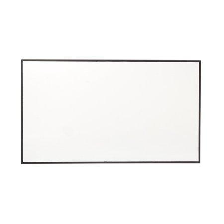 Decmode 40 X 24 Inch Modern Rectangular Gray Wood Wall Mirror, Reflective ()