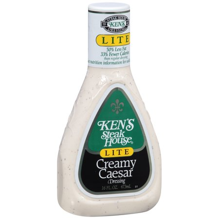 Ken S Steak House Lite Creamy Caesar Dressing  16 Fl Oz