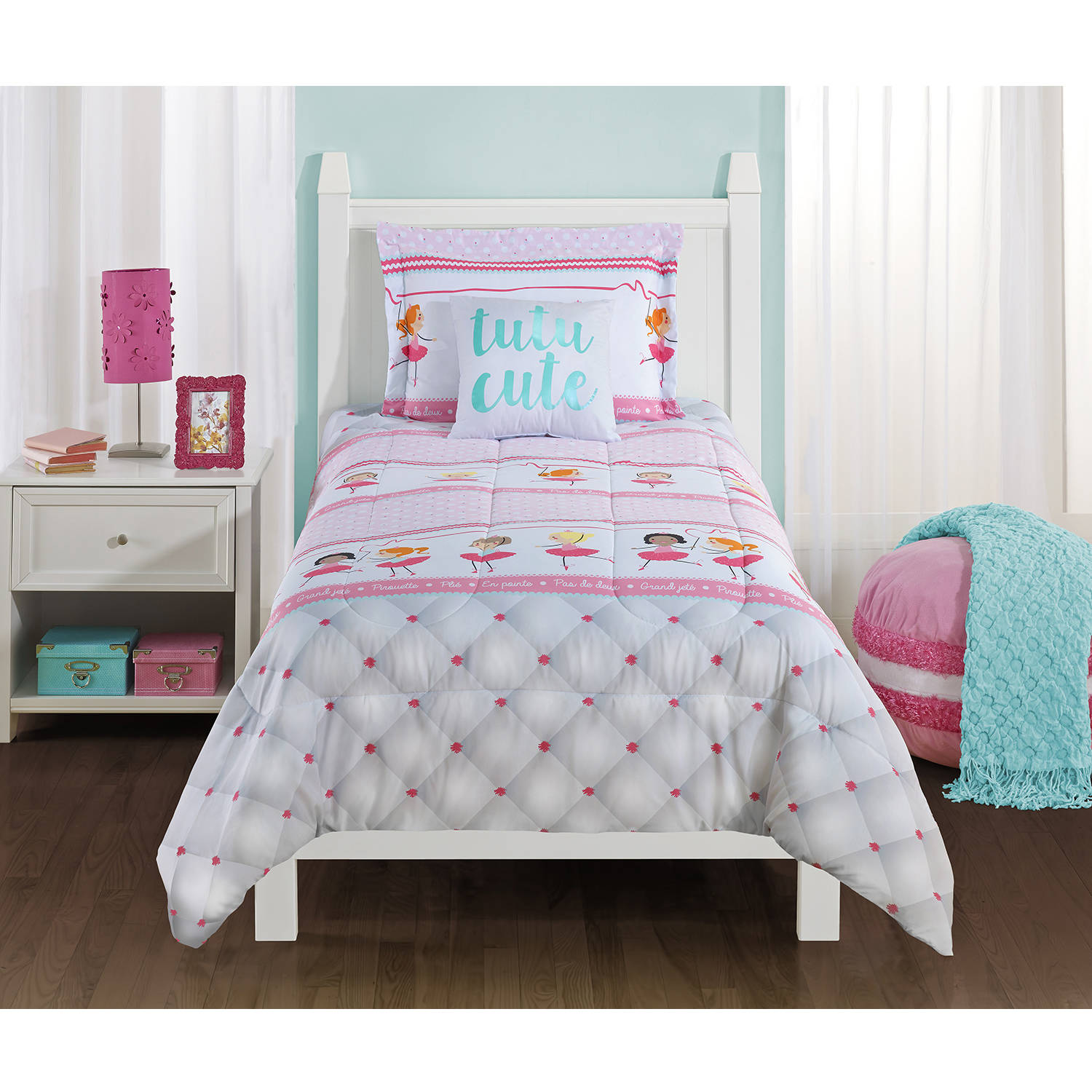 Mainstays Kids Ballerina Bedding Comforter Set