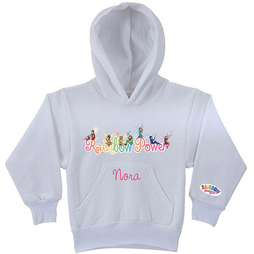 Personalized Rainbow Magic Rainbow Power Youth White Hoodie