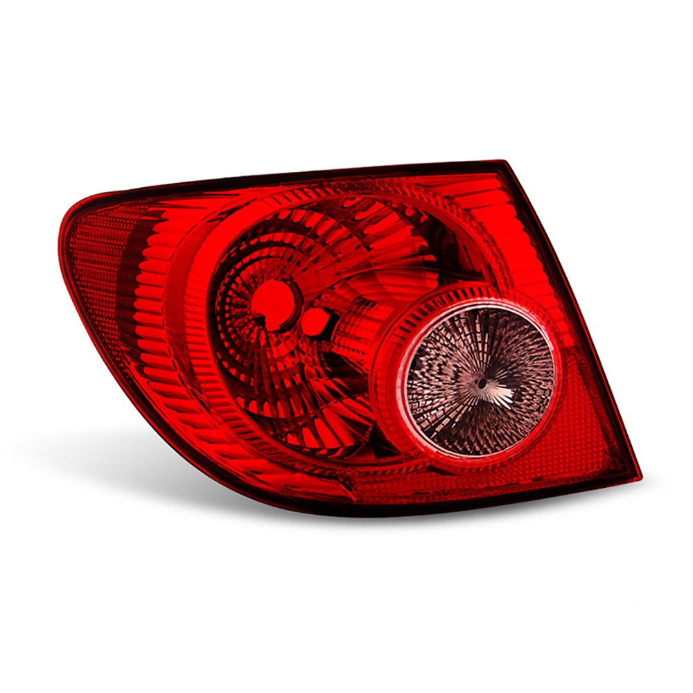 VIPMOTOZ Red Lens OE-Style Outer Body Tail Light Lamp Assembly For 2005-2008 Toyota Corolla