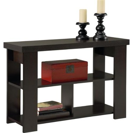 Altra black forest hollow core sofa table for Sofa table at walmart