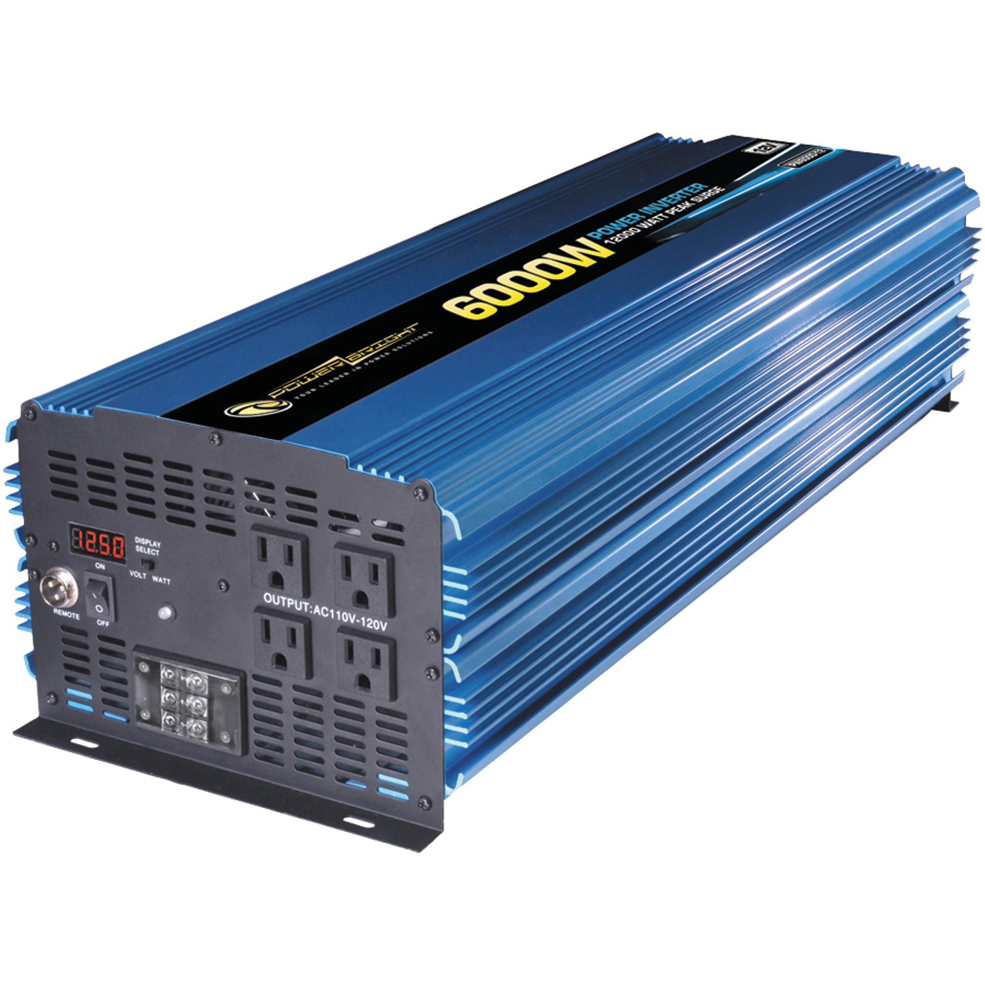 PowerBright PW6000-12 12-Volt Modified Sine Wave Inverter, 6,000 Watts