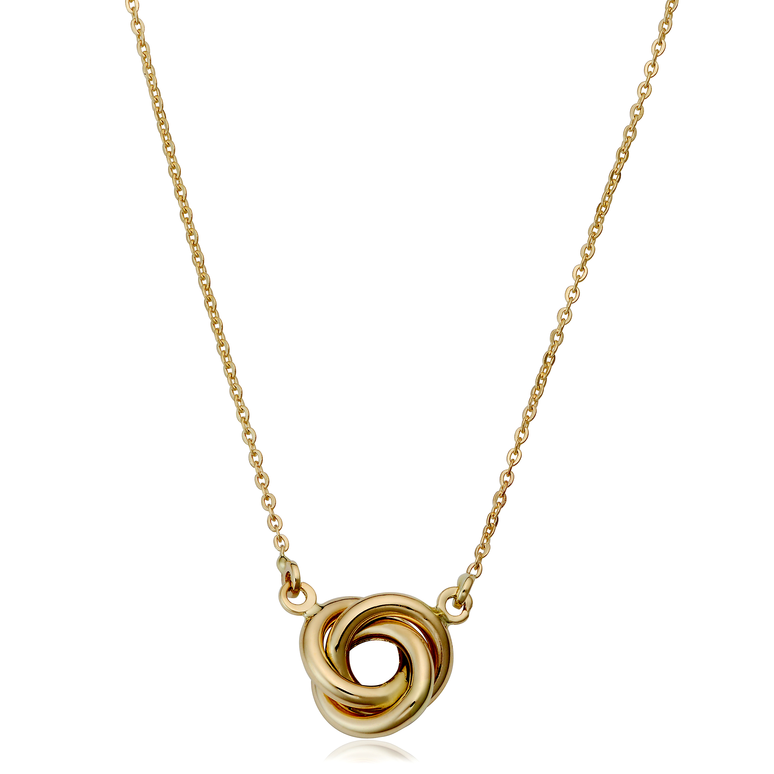 """14K Yellow Gold Love Knot Pendant Necklace, 17"""" - image 1 of 1"""