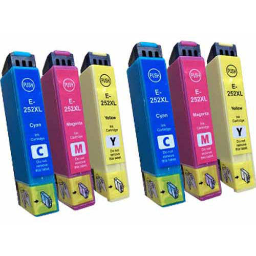 Universal Inkjet Remanufactured Multipack for Epson 252XL, 6-Pack