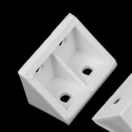 Plastic Shelf Door Cabinet Right Angle Corner Brace Bracket White 40 Pcs - image 1 of 2