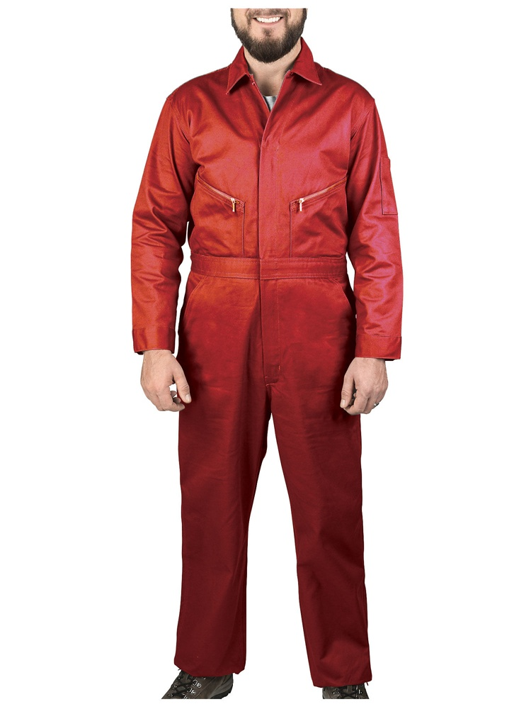 Men's Twill Non Insulated Coveralls Safety Red 42 Short