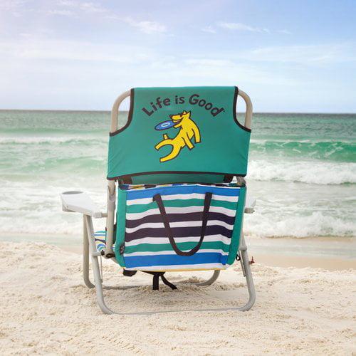 LifeIsGood Life is Good Reclining Beach Chair