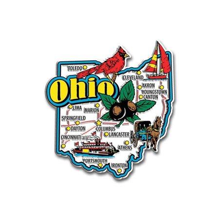 Ohio Jumbo State Map Fridge Magnet (Custom Fridge Magnets)