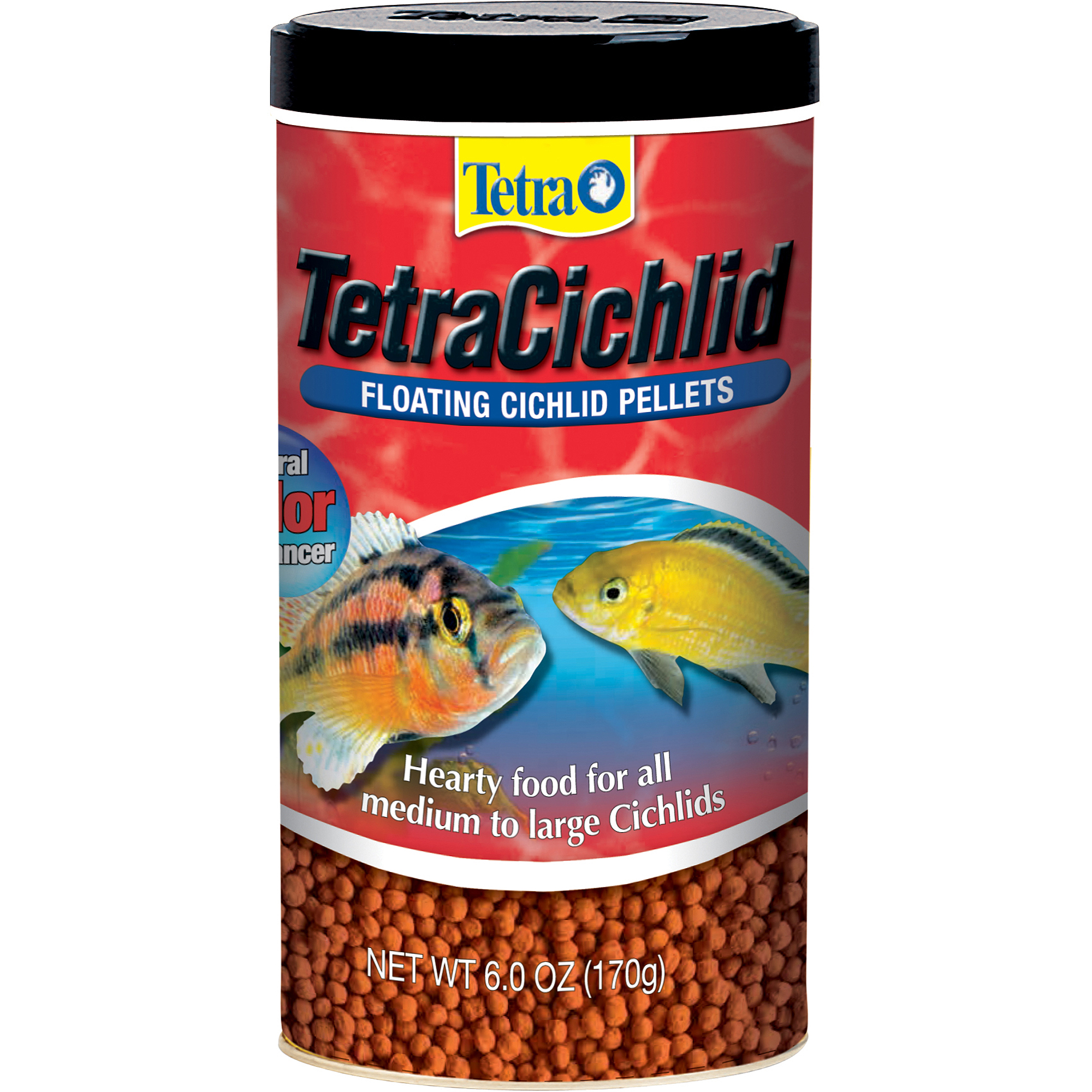 Tetra TetraCichlid Floating Pellets Fish Food, 6-Ounce